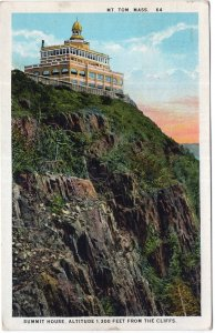 Mt. Tom, Mass, Summit House, Altitude 1,300 Feet From The Cliffs