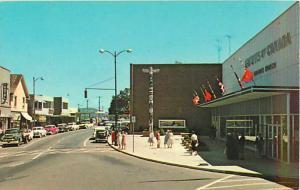 Street Scene Victoria Crescent Nanaimo BC Postcard