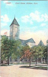 Court House Atchison Kans. Kansas Vintage Postcard Standard View Card