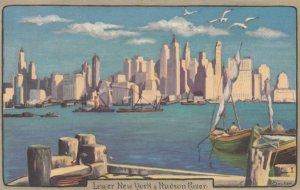 NEW YORK CITY , 1910-20s ; Lower New York & Hudsin River