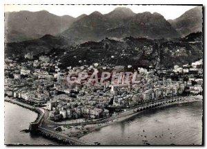 Modern Postcard Menton Alpes Maritimes aerial panorama of the city