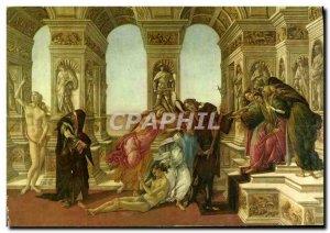 Postcard Modern Galleria Uffizi Firenze Botticelli Calunnia