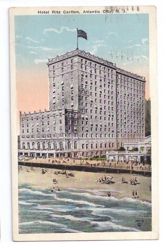Ritz Carlton Hotel Atlantic City NJ P Sander Postcard