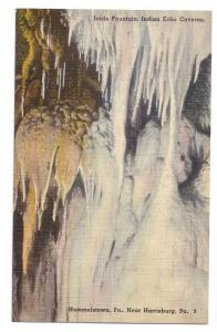 Icicle Fountain Indian Echo Caverns Hummelstown PA  Linen