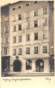 Salzburg Mozarts Geburtshaus Mozart's Birthplace