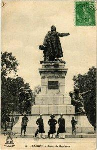CPA AK INDOCHINA Saigon Statue de Gambetta VIETNAM (956512)