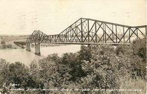 RPPC of the Highway Bridge at Plattsmouth Nebraska NE looking to Iowa 1939