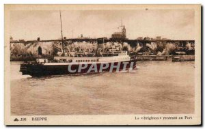 Old Postcard Dieppe Brighton returning to Boat Harbor