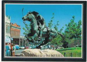 The Pony Express Statue, Old Sacramento State Historical Park, unused Postcard