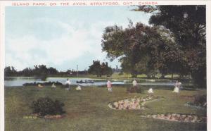 Island Park , On the Avon , STRATFORD , Ontario , Canada , 1910s