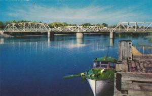 Bridge On Jemseg River, New Brunswick, Canada, 1940-1960s