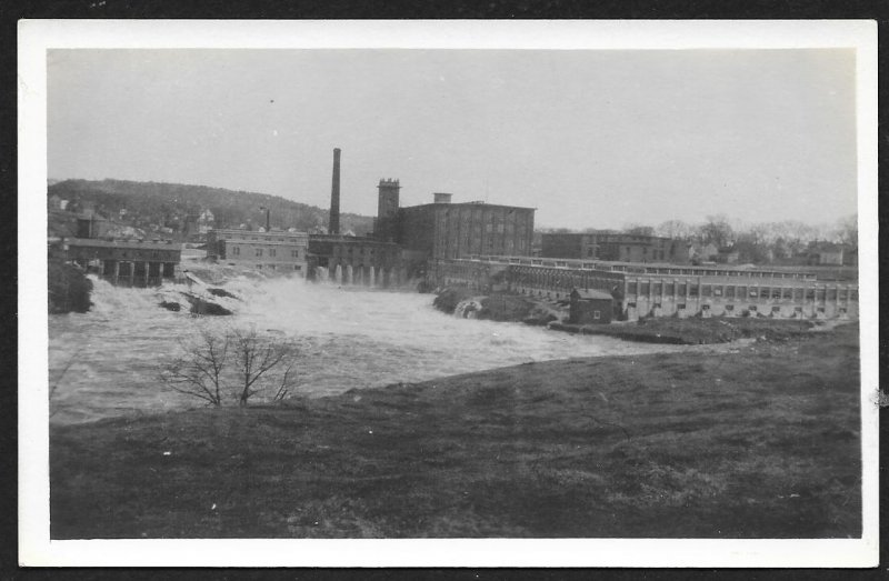 Factory At River Milltown New Brusnwick CANADA Real Photo PC Unused c1910s