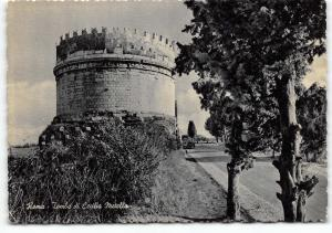 Vintage Black & White Roma Rome Postcard, Tomb of Cecilia Metella A62