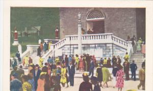 Crowd at Fontaine Miraculeuse, Ste. Anne de Beaupre, Quebec, Canada 1920-40s