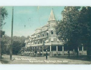 Taped Back Divided-Back CHADWICK HOTEL Excelsior Springs By Kansas City MO B4814