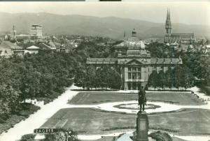 Croatia, Zagreb-Tomislavov  1962 used real photo Postcard
