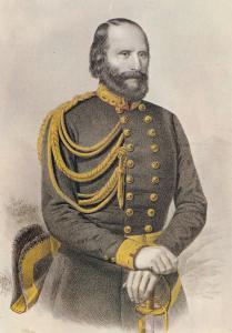 Garibaldi Painting 1859 Italian War Of Independence Military Postcard
