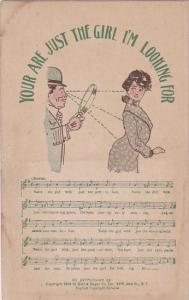 Song Card Your Are Just The Girl I'm Looking For Helf & Hager Company