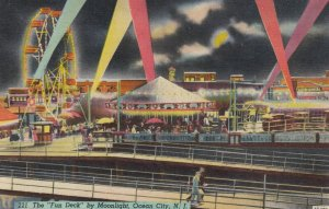 OCEAN CITY ,N.J. , 30-40s ; Amusement Park , Fun Deck