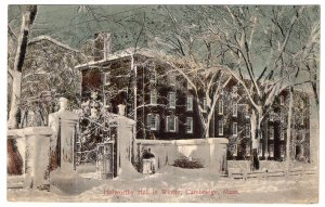 Cambridge, Mass, Holworthy Hall in Winter