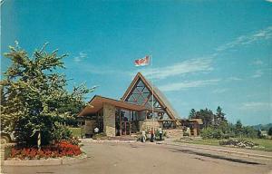 Canada's New Flag over Bell Museum, Baddeck, Cape Breton, NS