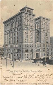 New York Life Building, Omaha, Nebraska Megeath Stationery 1906 Vintage Postcard