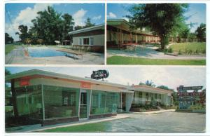 Old South Manor Motor Court Motel Savannah Georgia postcard