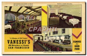 Old Postcard A Glimpse of Old Venic Vanessi & # 39s Broadway at Kearny San Fr...