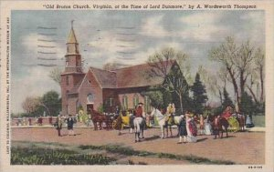 Virginia Wordsworth Thompson Old Bruton Church At the Time Of Lord Dunmore 1954