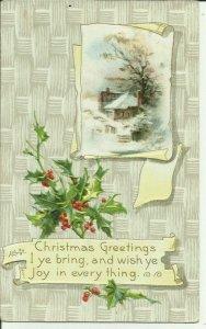 Christmas Greetings I Ye Bring, and Wish Ye Joy in Everything