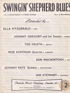 Swingin Shepherd Blues 1950s Ella Fitzgerald Ted Heath Sheet Music