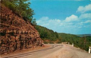Arkansas Highway 7, Prize Drive of the Ozarks, AR, 1957 ChromePostcard e4910