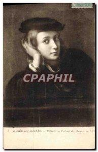 Old Postcard Paris Louvre Museum Raphael Portrait of & # 39auteur