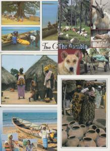 GAMBIA 33 AFRIQUE Cartes Postales 1960-1980.