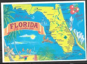 Florida, map, unused