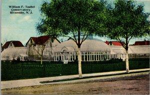 Riverside New Jersey NJ - William Taubel Conservatory - Vintage Postcard - PC