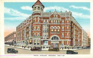 Hotel Athearn, Oshkosh, WI,Wisconsin, White Border