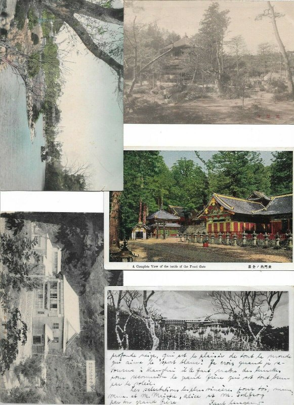 Japan - Beautiful Lot Hand Tinted 10 Postcards and More 01.12