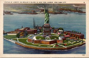 New York City Statue Of Liberty On Bedloe's Iisland