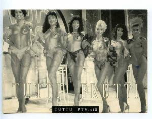 221869 TUTTI FRUTTI show ADVERTISNG semi-nudes girls postcard