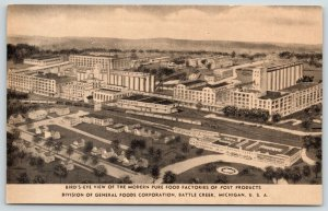 Battle Creek Michigan~Post Products Factory Aerial~Cereal Plant~Pure Foods~1930s