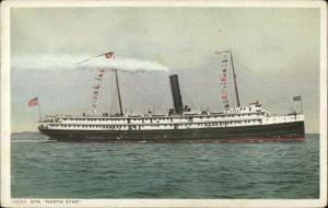 Steamship Steamer North Star c1910 Detroit Publishing Postcard