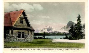 Canada - Alberta. Bow Lake, Num-Ti-Gah Lodge   *RPPC