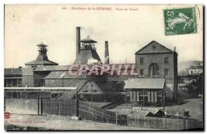 Postcard Old Mine coal mines Mines St Etienne Winch Well