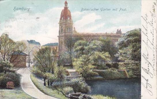 Botanischer Garten Mit Post Hamburg Germany 1900 1910s Hippostcard