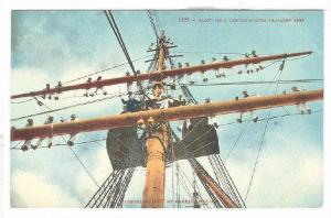 Sailors aloft ona United States Ship, 10-20s