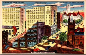 Wellington Hotel Albany NY weird cutaway view downtown state capital garage