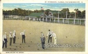 Bowling on the Green  Lawn Bowling, Postcard Postcards  Bowling on the Green