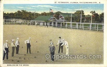 Bowling on the Green  Lawn Bowling, Postcard Postcards  Bowling on the Green