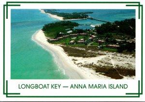 Florida Longboat Key Anna Maria Island Looking North Across Longboat Pass